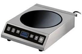 Плита GEMLUX GL-CIC35W электрическая, настольная, индукционная, 1 зона нагрева (вок) размером 280х280 мм, сенсорное управление, 10 уровней мощности (50-3500 Вт), рабочая температура 60-240оС, таймер 0-2 ч 59 мин, нерж.сталь