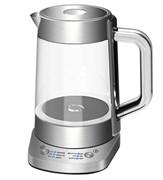 Чайник электрический GEMLUX GL-EK-302G электронное управление, стеклянная колба объемом 1,5 л, закрытый ТЭН, рабочая температура 70-100оС, функция поддержания температуры, функция автоотключения, нерж.сталь