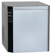 Льдогенератор кускового льда (пальчики) GEMLUX GL-IM-15 настольный, автономный, емкость резервуара 2,8 л, производительность 15 кг/сутки (10 пальчиков за 10 минут), 3 размера пальчиков, бункер для льда вместимостью 1,0 кг, пластмасса, цвет серебристый