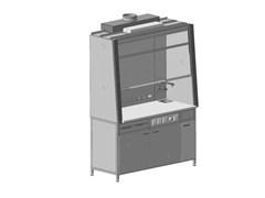Шкаф вытяжной с подводом воды и электрикой 1500х750х2250