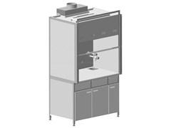 Шкаф вытяжной с подводом воды с ВЗБ электрикой 1500х750х2250