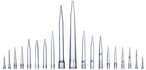783211 Наконечники для дозаторов  Optifit 10 мкл стерильные, 46 мм, удлиненные, в штативе 10х96 шт.