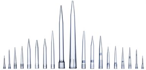 790351 Наконечники для дозаторов  Optifit 350 мкл, 54 мм, стерильные, в штативе 10х96 шт.