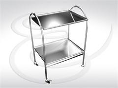 Стол инструментальный (2 полки из нержавеющей стали) СИ 2-01 (2Н) разборный