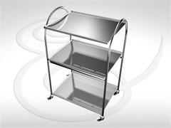 Стол инструментальный (3 полки нержавеющая сталь) СИ 2-01 (3Н) разборный