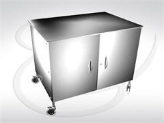 Стол инструментальный анастезиолога с двумя дверцами СИА-01 (2Д)