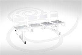 Секция стульев металлическая С43202 перфорированная