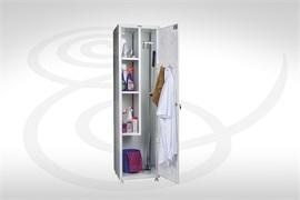 Шкаф для одежды и хозинвентаря металлический МД 1 ШМ SS
