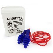 Многоразовые противошумные вкладыши ЭйрСофт (AirSoft)на шнурке