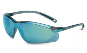 Открытые защитные очки А700 с сине-серебристыми линзами из поликарбоната. Покрытие от царапин