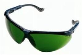 Открытые защитные очки Экс-Си (XC) синяя оправа, сменные линзы с затемнением 5 DIN (Г2) и двусторонним покрытием от царапин