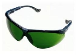 Открытые защитные очки Экс-Си (XC) синяя оправа, сменные линзы из поликарбоната с затемнением 6 DIN (Г3) и двусторонним покрытием от царапин