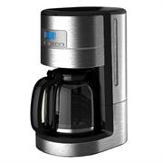 Кофеварочная машина GEMLUX GL-DCM-3капельная, электронное управление с ЖК-дисплеем, емкость 1,8 л, многоразовый нейлоновый фильтр, подогрев готового напитка до 2 ч, задержка старта до 24 ч, материал корпуса - нерж.сталь/пластмасса