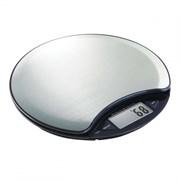 Весы кухонные GEMLUX GL-KS751SS электронные, кнопочное управление, ЖК-дисплей, 5 кг х 1 г, сброс веса тары, индикация температуры, перегрузки и разрядки батарей, автооткл., платформа нерж.сталь, корпус пластмасса, питание 1хCR2032