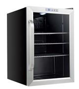 Холодильный шкаф витринного типа GEMLUX GL-BC62WD электронный термостат, +1…+6оС, 62 л, 1 распашная перенавешиваемая стеклянная дверца с рамой из нерж.стали, подсветка, 3 полки-решетки, материал корпуса - окраш.сталь, цвет черный