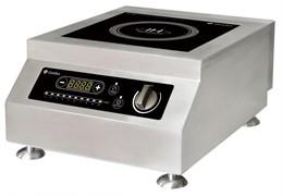 Плита GEMLUX GL-IC5100PRO электрическая, настольная, индукционная, 1 зона нагрева, сенсорное и механическое управление с ЖК-дисплеем, 10 уровней мощности, электронный таймер 0-24 ч, нерж.сталь