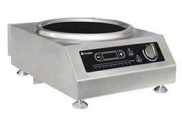 Плита GEMLUX GL-IC3100WPRO электрическая, настольная, индукционная, 1 зона нагрева (вок), сенсорное и механическое управление с ЖК-дисплеем, 10 уровней мощности, электронный таймер 0-24 ч, нерж.сталь
