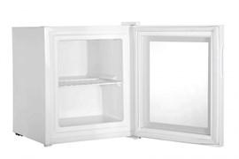 Морозильный шкаф витринного типа GEMLUX GL-F36W компрессорный, ручное оттаивание, -15оС, 36 л, 1 перенавешиваемая стеклянная дверца, 1 полка-решетка, подсветка, цвет белый
