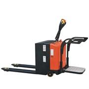 Самоходная электрическая тележка SK20; нагрузка 2000 кг, АКБ 200 Ah, с поручнями и платформой для оператора