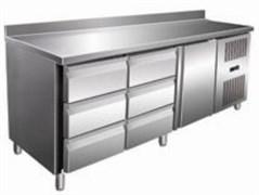 Стол с морозильным шкафом COOLEQ GN3260BT бортик 6 ящиков+1 дверь