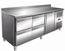 Стол с морозильным шкафом COOLEQ GN3240BT бортик 4 ящика+1 дверь