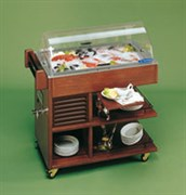 Тележка сервировочная холодильная TECFRIGO CARRETTINO FISH светлый орех